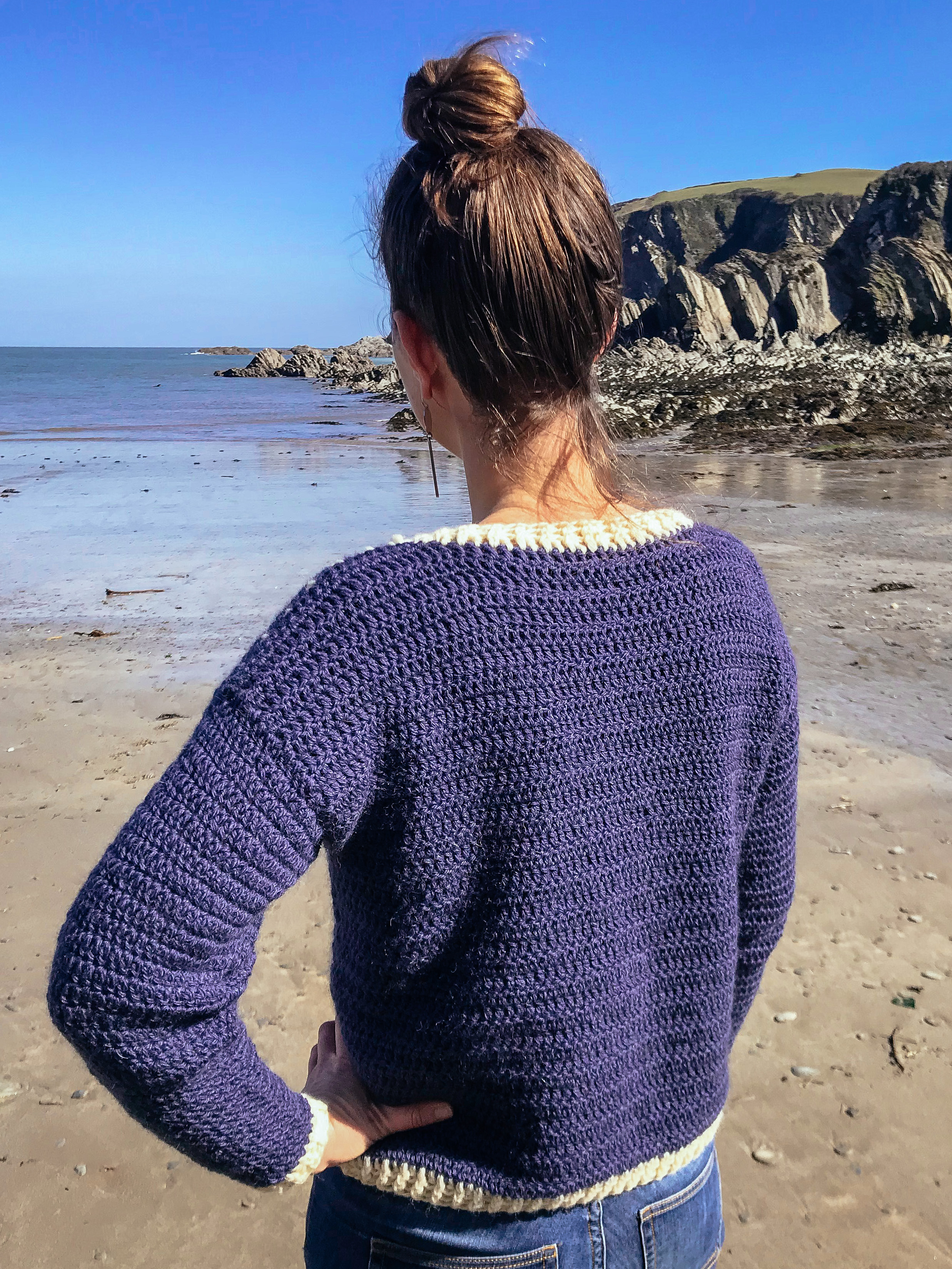 Back of sweater